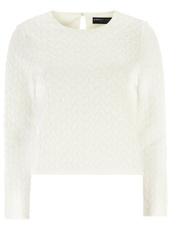 Cream Cable Knit Tee - Dorthy Perkins