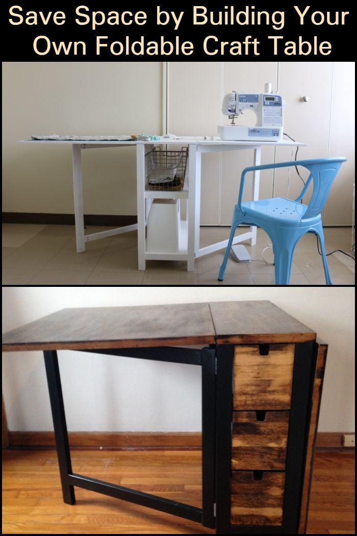 Save Space By Building Your Own Foldable Craft Table Craft Table