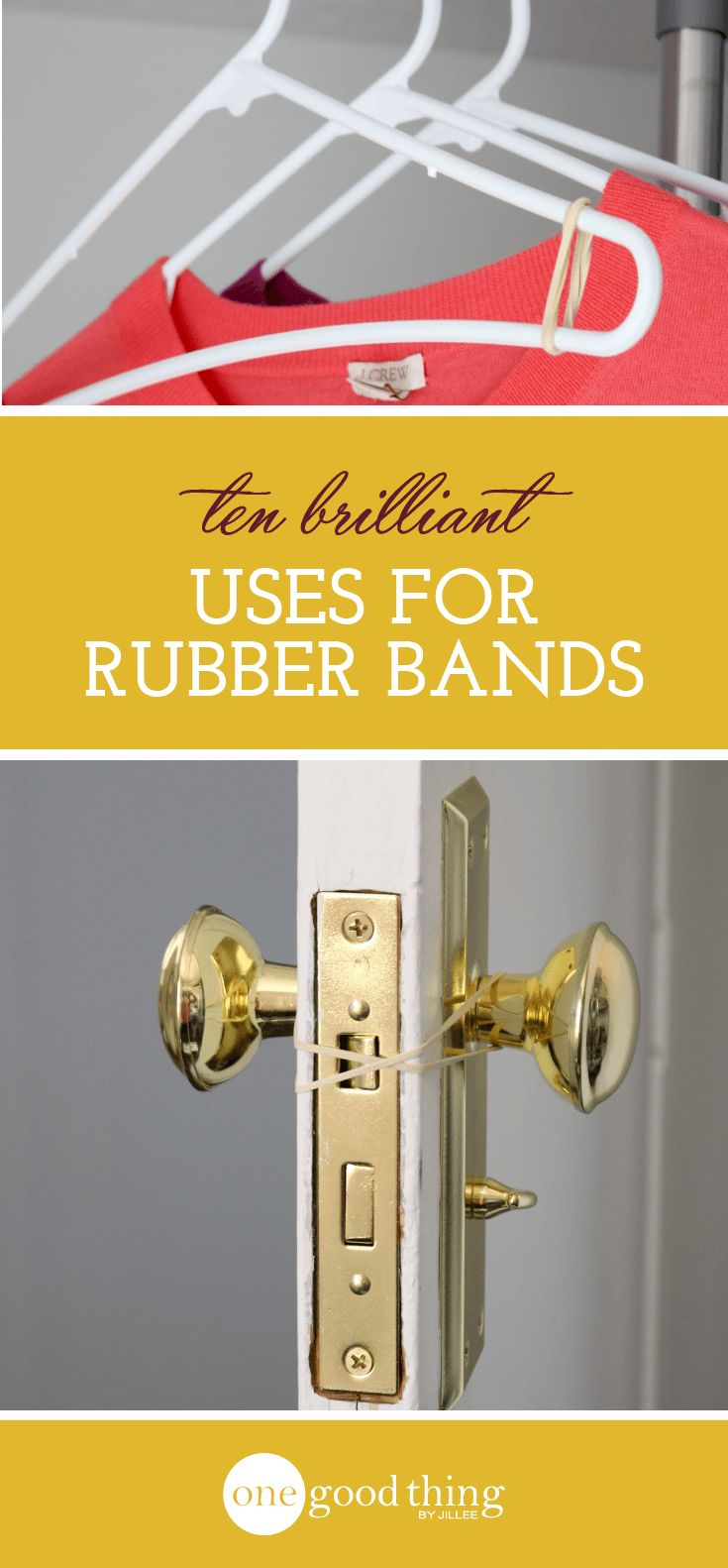 Rubber bands are far more useful than you might think! Check out these 10 surprising ways you can use a rubber band around the house.