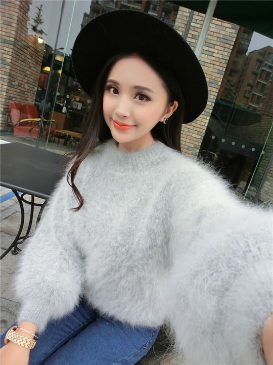 Love crossdresser sweater angora mohair cumshot rabbit