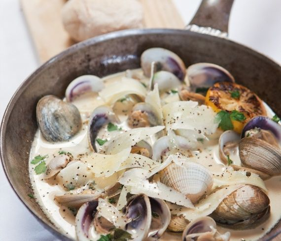 Shellfish is a typical ingredient you can always find in New Zealand, and you can try this recipe with clams, scallops, or mussels depending on where you live and what's available.