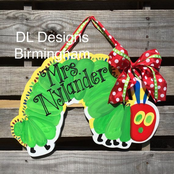 The Very Hungry Caterpillar Door Hanger for by DLDesignsBirmingham