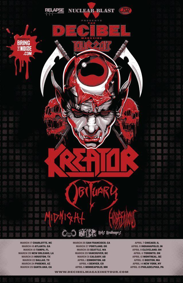12 April 2017 -Kreator -Obituary -Midnight -Horrendous
