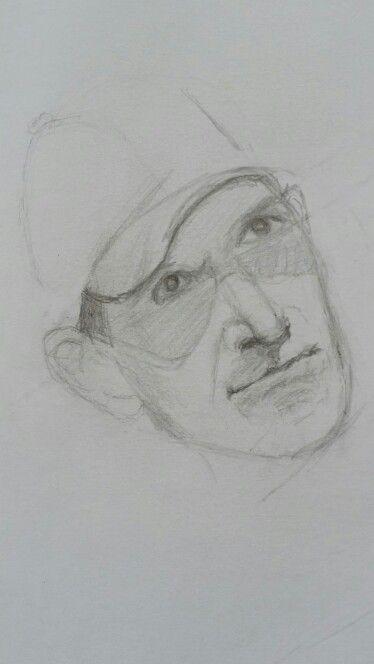 Padhraig Harrington pencil sketch