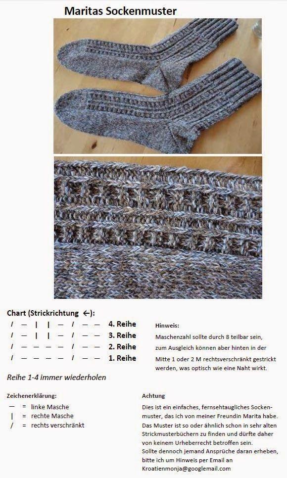 Pin von Ulrike Klösel auf Anleitungen | Pinterest | Socken, Socken ...