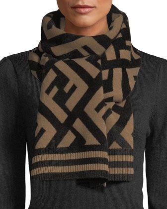 d6bd32bd6c Fendi Knit Macro FF Scarf in 2019 | Dream Closet | Fendi scarf ...