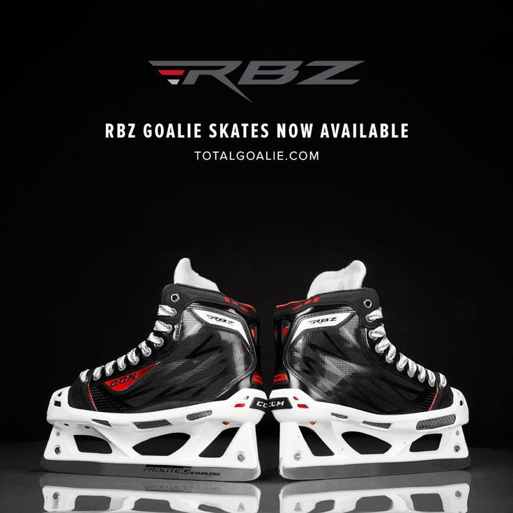 CCM RBZ Goal Skates now available at TotalGoalie.com. #CCM #Skates #Goalie