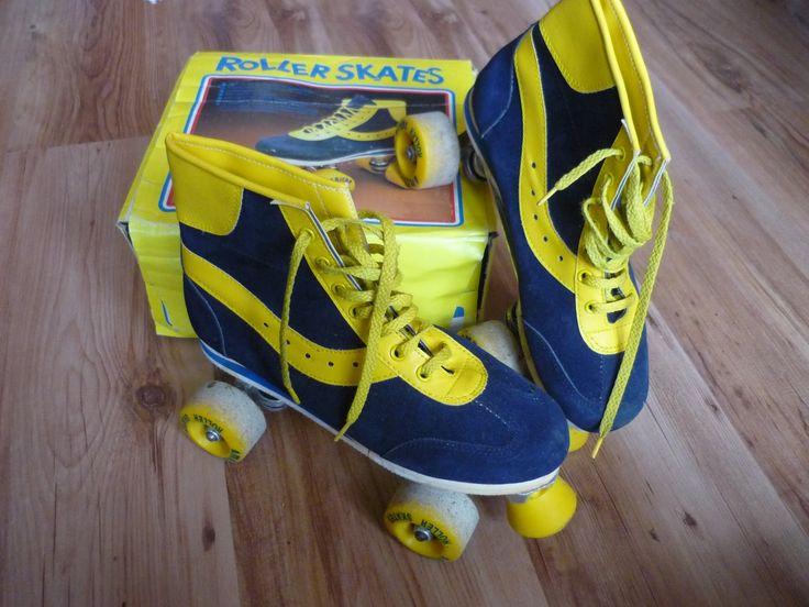 Rolschaatsen, natuurlijk de blauw gele