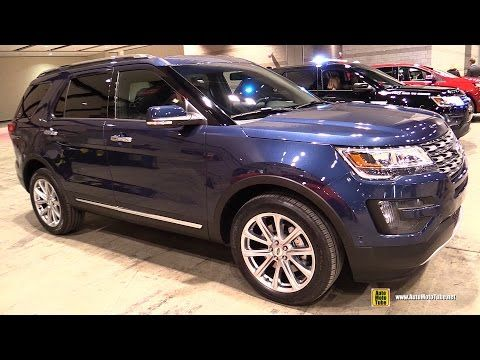 2016 Ford Explorer Limited - Exterior and Interior Walkaround - 2015 Chicago Auto Show - YouTube