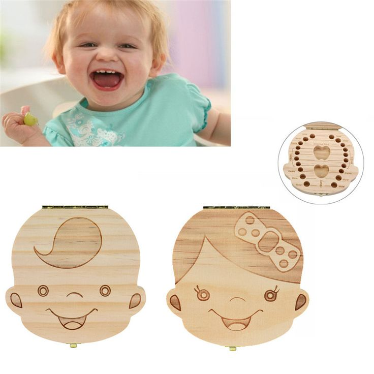 2017 Newest Tooth Box Organizer for Baby Milk Teeth Save Wood Storage Box for Kids Boy&Girl Dropshipping Free Shipping NOA19