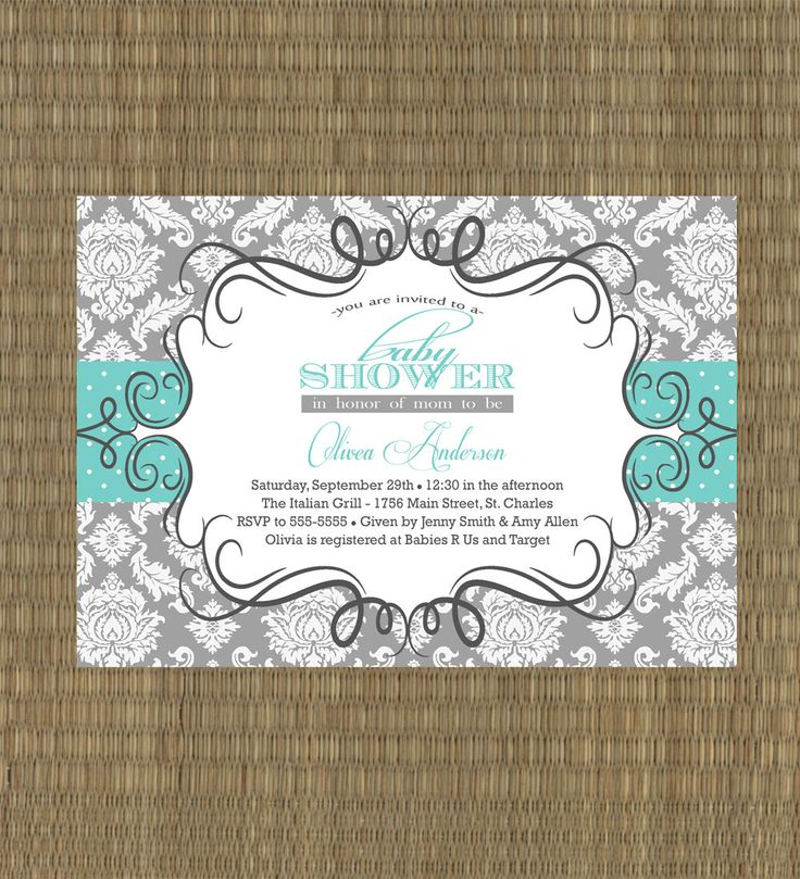 38 best baby shower invitations images on Pinterest   Baby shower ...