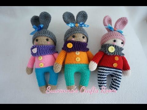 baby in bunny suit crochet - YouTube