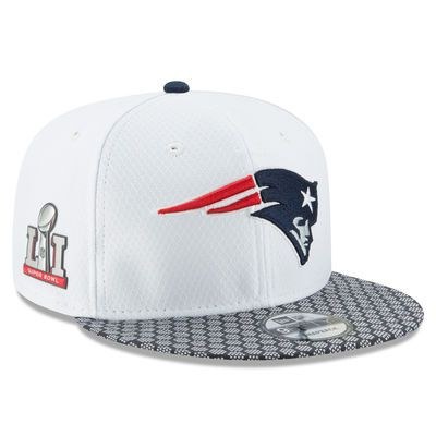 New England Patriots New Era Super Bowl LI Opening Night 9FIFTY Snapback Adjustable Hat - White