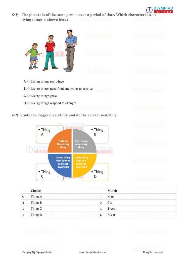 Grade 1 Science printable worksheets in 2020 Math