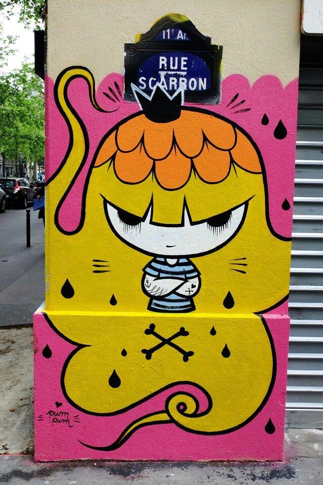 Pum pum - street art - Paris 11 - Rue scarron