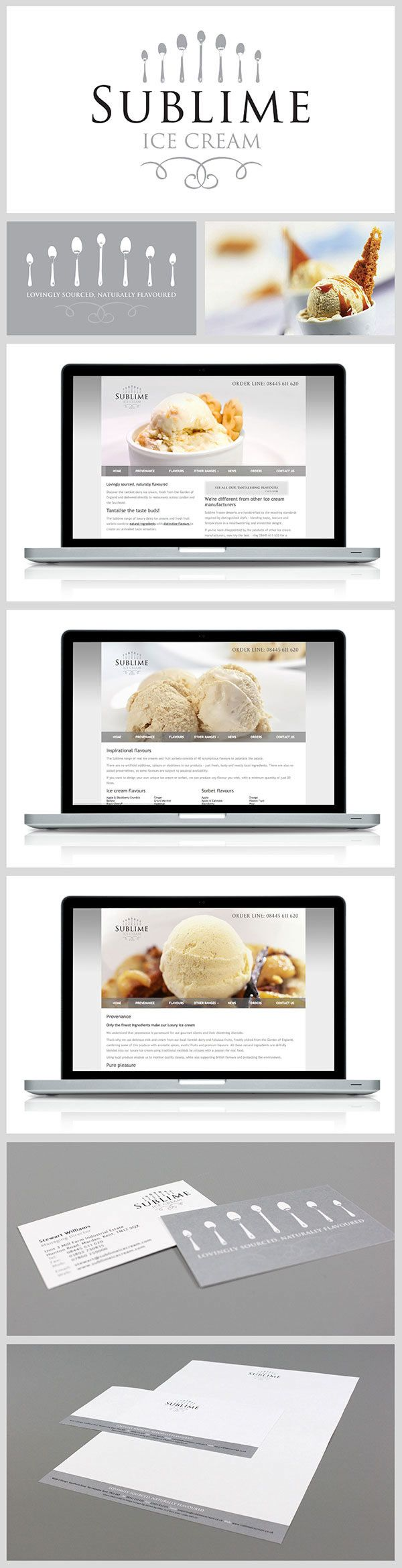 Brand and Website Design for a leading frozen food storage and distribution company, who wanted a Brand for their newly developed parallel business, supplying luxury ice cream