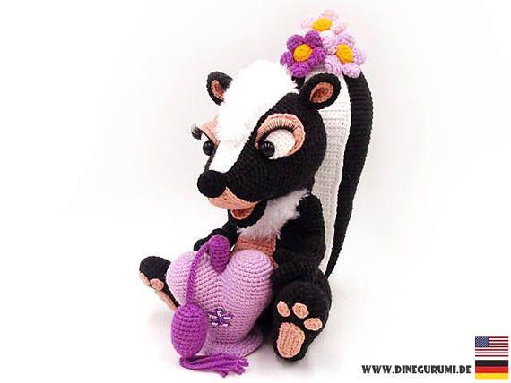 Skunk - amigurumi crochet pattern | Crochet | Owl crochet patterns