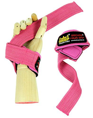 PINK WOMEN Classic Heavy Duty Neoprene Padded Weight Lifting Straps EXTRA CUSHION At the Carpal Tunnel For Wrist Comfort  Optimal Lifting Power  Best Cotton Weightlifting Strap That Enhance Grips  Strong Enough for Your Heavy Duty Pro Bodybuilding Dead Lifting for Women Life Time Warranty 1 Pair -- You can get additional details at the image link.