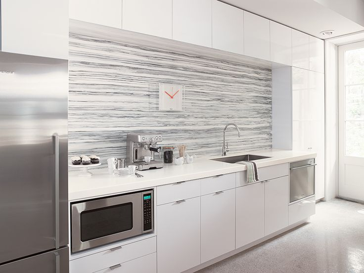 Formica 949 White ColorCore2™ is the perfect highlight to this modern  kitchenette. Backsplash: Formica Solid Surface Gray Striato | Pinterest |  The o'jays, ... - Formica 949 White ColorCore2™ Is The Perfect Highlight To This