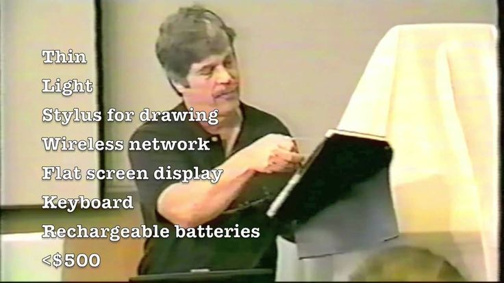 "In 1968, Alan Kay outlined the Dynabook, calling it a ""children's computer."" The device was never made commercially, but he made a model out of cardboard. In..."