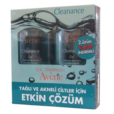 Avene Cleanance Yüz Yıkama Jeli 2li Set 200 ml | 58,80 TL | Dermoeczanem.com #eauthermaleavene #avene #cleanance #akne #dermokozmetik #ciltbakım #sivilce