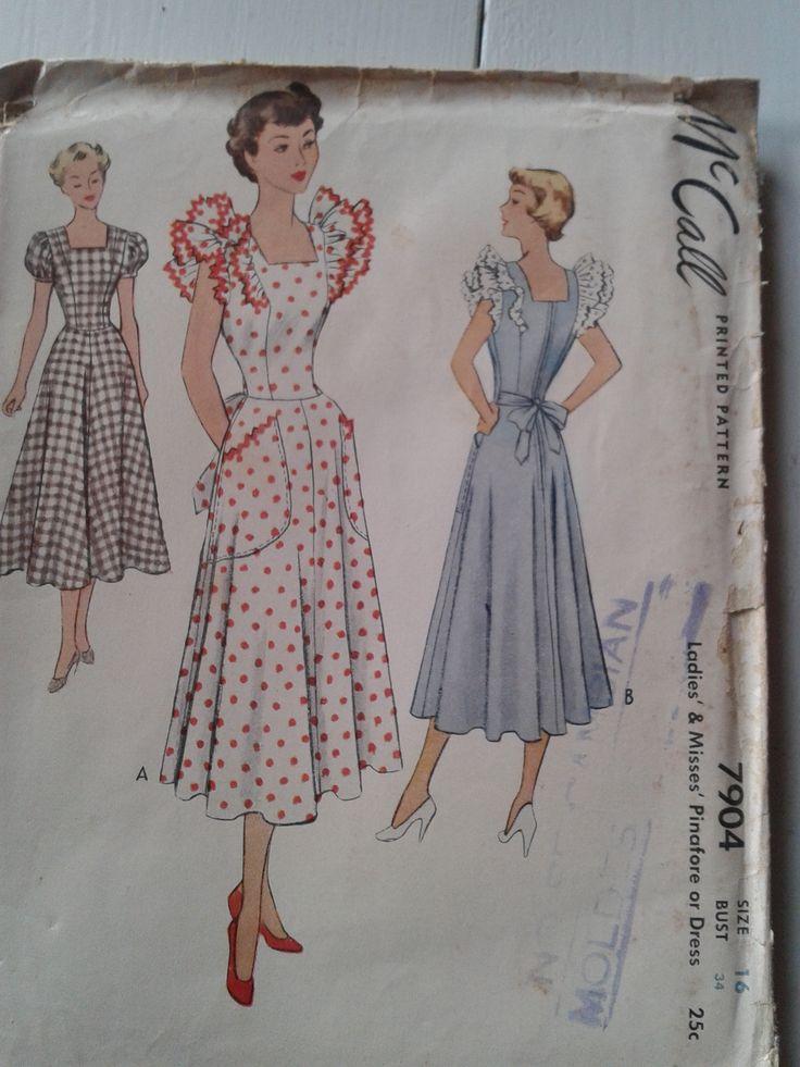 Patrones Mc Call Vestido A 241 Os 50 Vintage Pinterest