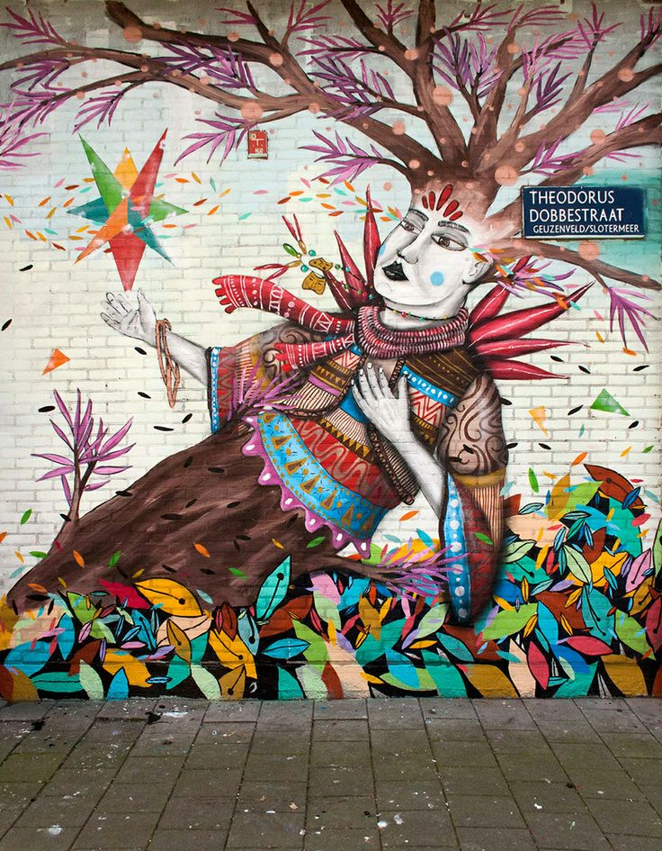 Artist Skount – New Mural in Amsterdam