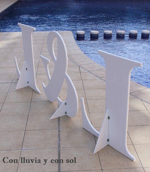 205 best images about letras on pinterest monogram - Ideas para bodas espectaculares ...