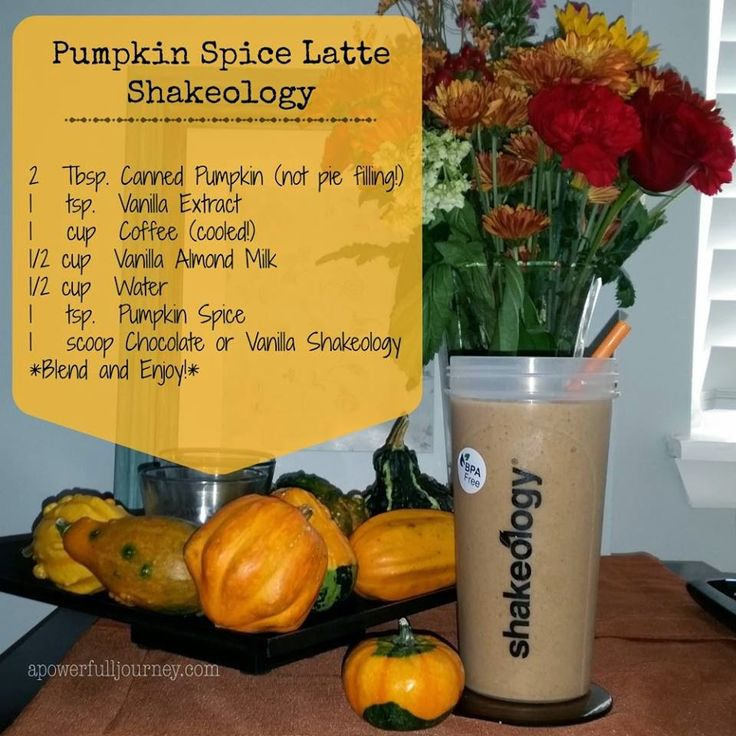 Pumpkin Spice Latte Shakeology - Healthier and Cheaper than Starbucks!  Delicious pumpkin shake, 21 Day Fix Approved!! a power full journey | www.apowerfulljourney.com http://www.shakeology.com/allisonkpower