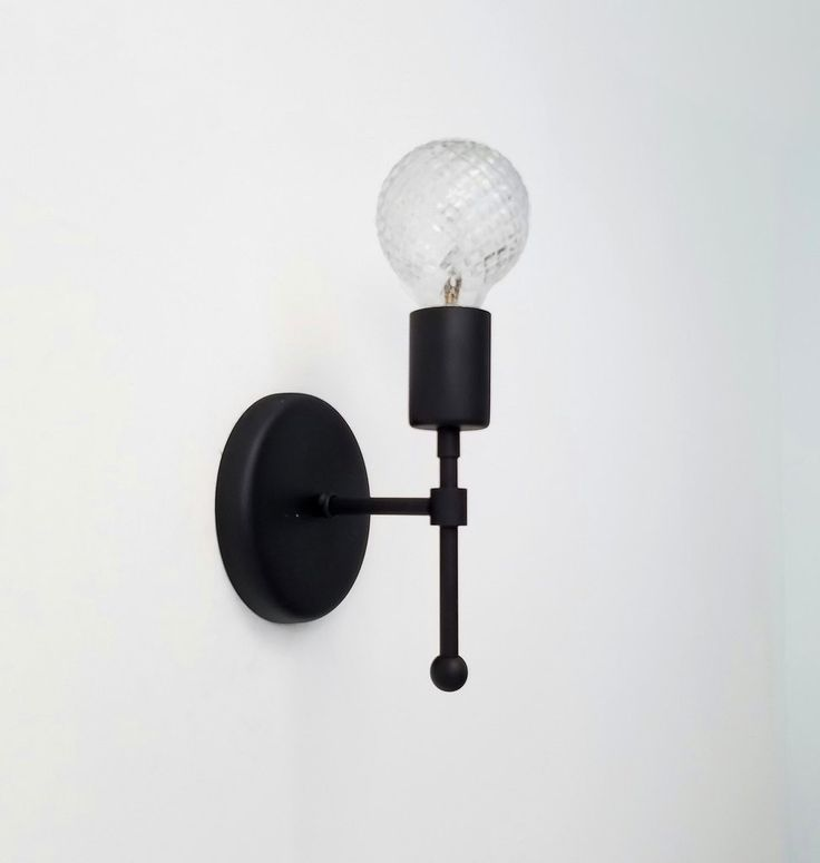 Bathroom Wall Sconces Black : 17 Best images about Modern Lighting on Pinterest Metals, Brass chandelier and Glass globe