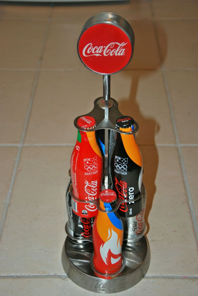 Coca-Cola+Stainless+Coke+Bottle+Bar+Display+Unit+and+Round+Sign+#CocaCola