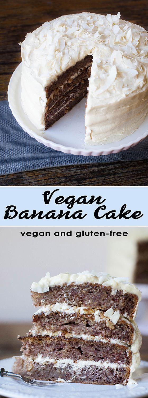 Vegan & Gluten Free Banana Cake