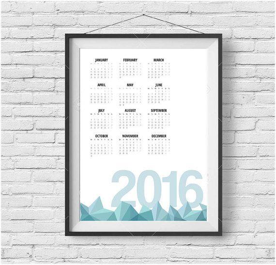 yearly printable calendar