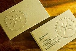 Image result for embossed business cards