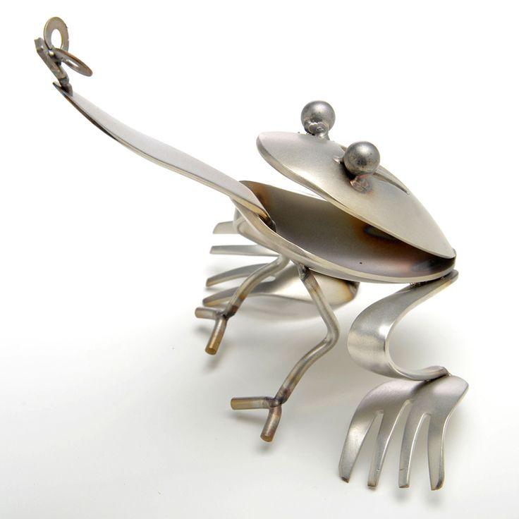 Image result for silverware art frog