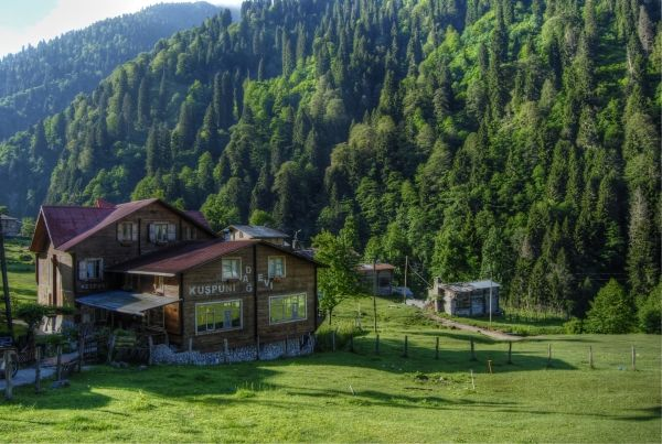 A hotel in the Ayder plateau of the black sea region of Turkey