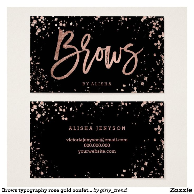 55 best nail specialist business cards images on pinterest brows typography rose gold confetti splatters business card reheart Gallery