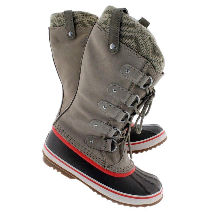 Sorel Women's JOAN OF ARCTIC KNIT fossil winter boots ...