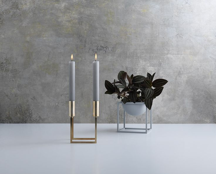 Kubus designed by Mogens Lassen in 1962 now relaunched in brass. Also comes in Kubus Bowl.