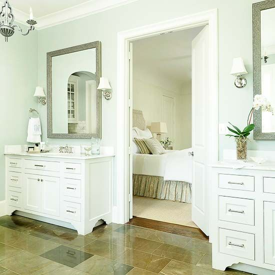 Add style and organization while decluttering your bathroom countertops by adding some more storage and shelving into your bathroom layout. Create a spa-like retreat with these ideas that are big on style and storage. #bathroom #decluttering #storage #organize