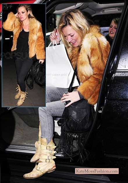 Kate Moss in Vivienne Westwood's Pirate Boots