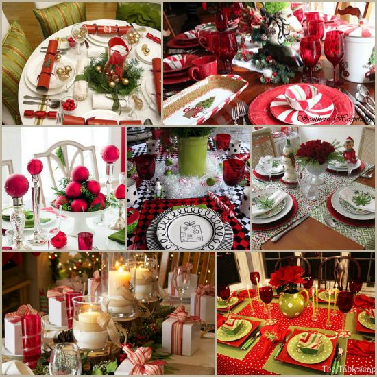 1000 images about christmas tablescapes on pinterest for Christmas centerpiece ideas for round table