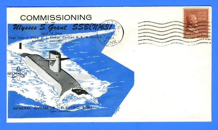 Submarine USS Ulysses S. Grant SSBN-631 Commissioning July 17, 1964