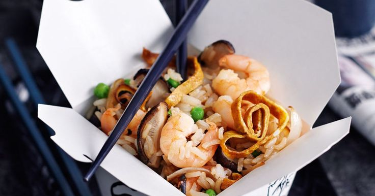 Toss the takeout menu! Make your own shrimp-fried rice. Delicious, satisfying and takes under an hour to prepare!