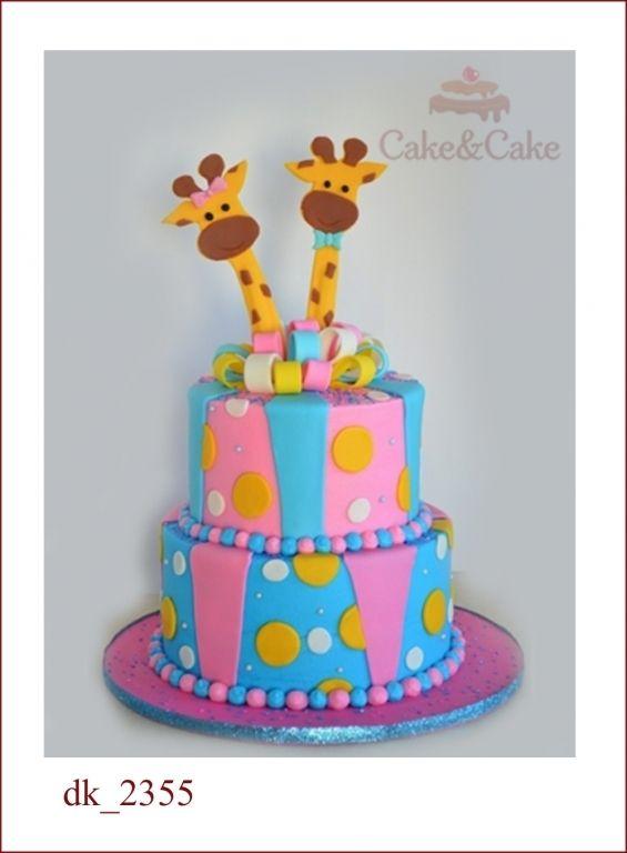 Детский торт `Двойняшкам`