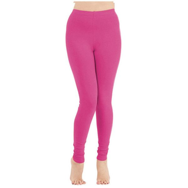 Women's Ultra Soft Leggings with Wide Waistband ($5) ❤ liked on Polyvore featuring pants, leggings, pink, wide waistband leggings, legging pants, pink leggings, pink trousers and ankle length leggings