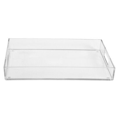 1 Pc Serving Tray Room Essentials Clear Plastic Tray