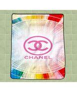 Chanel logo pink new hot custom CUSTOM BLANKET ... - $27.00 - $35.00