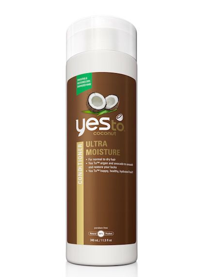 For frizzy hair Yes To Coconut Ultra Moisture Shampoo and Conditioner @yestocarrots