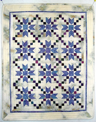 miniature quilt.  Like the color combination